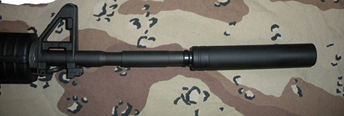 Fake Suppressor for S&W M&P15-22 with Non-threaded Barrels - 6 Inch
